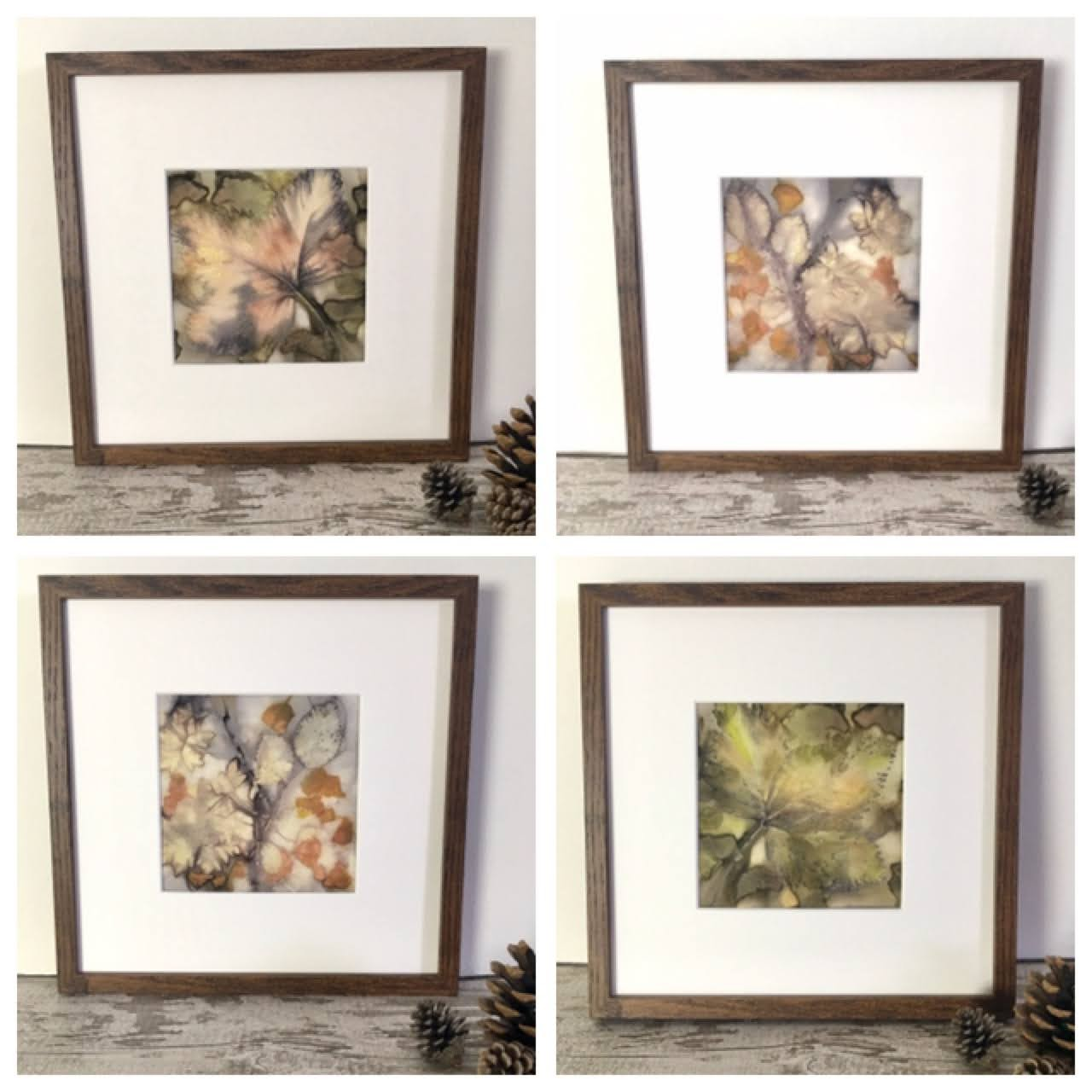 Botanical art eco prints on paper ,framed or unframed, natural art